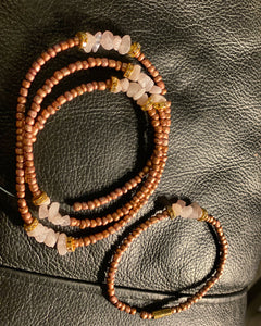 Custom Waist Bead Anklet Set