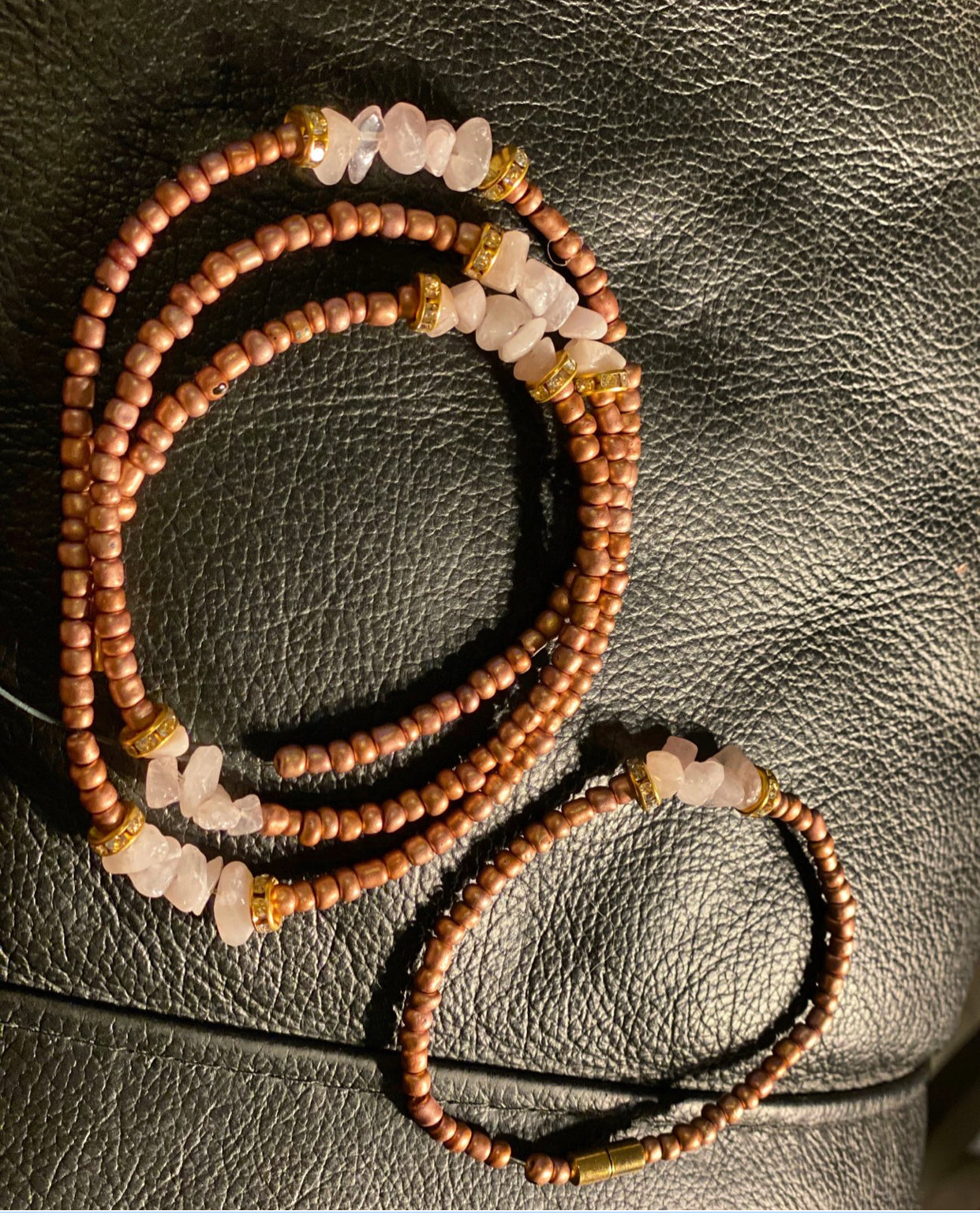 Custom Bracelet and Waist Bead Set