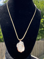 Load image into Gallery viewer, Clear Quartz Copper Wrapped Necklace