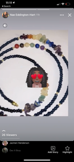 Load image into Gallery viewer, Black Chakra Waistbead