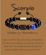 Load image into Gallery viewer, Natural Zodiac Gemstone Bracelet