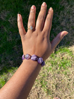 Load image into Gallery viewer, Chunky Amethyst Bracelet (Raw)