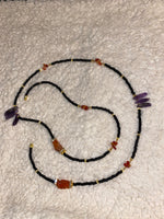 Load image into Gallery viewer, Amethyst Carnelian Waistbead