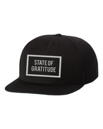 Load image into Gallery viewer, State of Gratitude x Yupoong Classic Fit Unisex Hat. One size fits all Snapback. Streetwear. Athletic Wear. Everyday Gratitude Apparel.