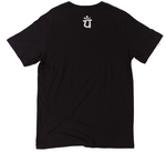 Load image into Gallery viewer, State of Gratitude Black Top with a White Print Logos. Exercise, Athletic, and Yoga Fit