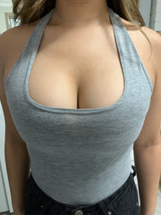 boobyful aid boob tape perfect cleavage hack in halter neck top