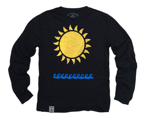 Sun & Waves: Organic Long Sleeve T-Shirt