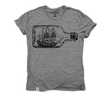 Ship in a Bottle: Tri-Blend Short Sleeve T-Shirt in Tri-Heather Grey