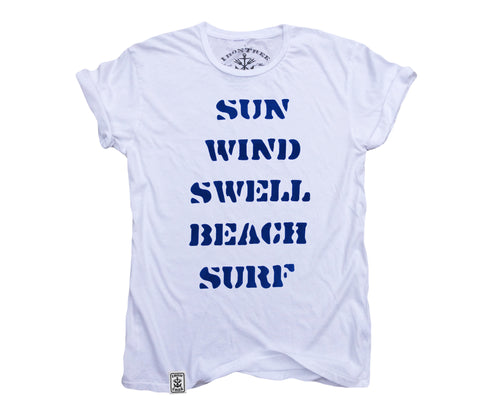 How are Waves Created? Organic Fine Jersey Short Sleeve T-Shirt