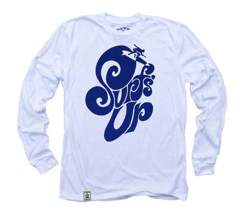 Surf's Up: Organic Fine Jersey Long Sleeve T-Shirt