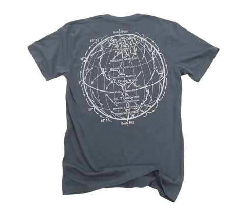 Trade Winds: Organic Fine Jersey Short Sleeve T-Shirt in Slate