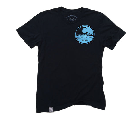 Tsunami Evacuation Team ll: Organic Fine Jersey Short Sleeve T-Shirt
