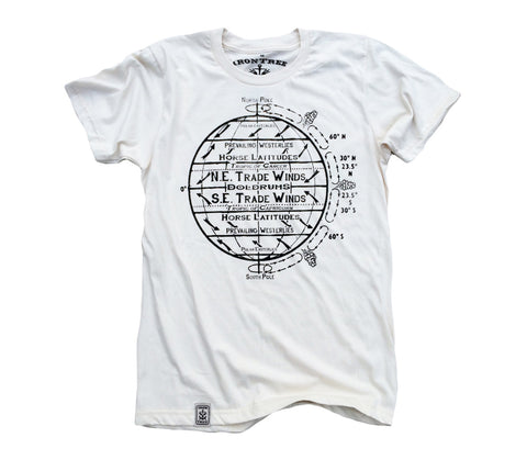 Horse Latitudes: Organic Fine Jersey Short Sleeve T-Shirt in White