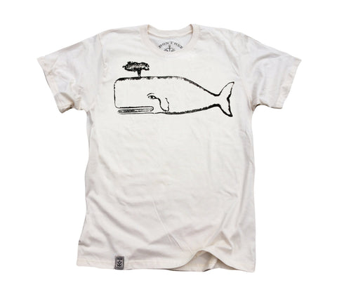 The Great Whale: Organic Fine Jersey Short Sleeve T-Shirt in Unbleached Natural