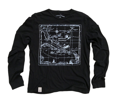 Bermuda Triangle: Organic Long Sleeve T-Shirt