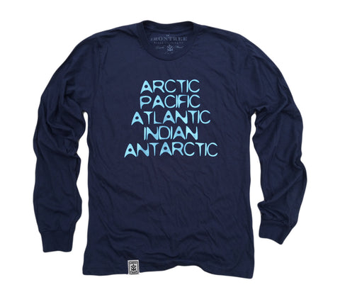 World Oceans: Organic Fine Jersey Long Sleeve T-Shirt