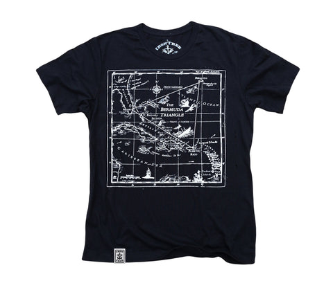 Bermuda Triangle: Organic Fine Jersey Short Sleeve T-Shirt in Black