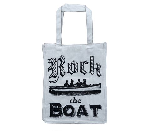 Rock the Boat: Jumbo Size Heavy Canvas Shopper Tote Bag