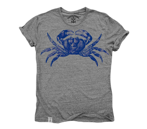 Maryland Blue Crab: Tri-Blend Short Sleeve T-Shirt Tri Vintage Grey