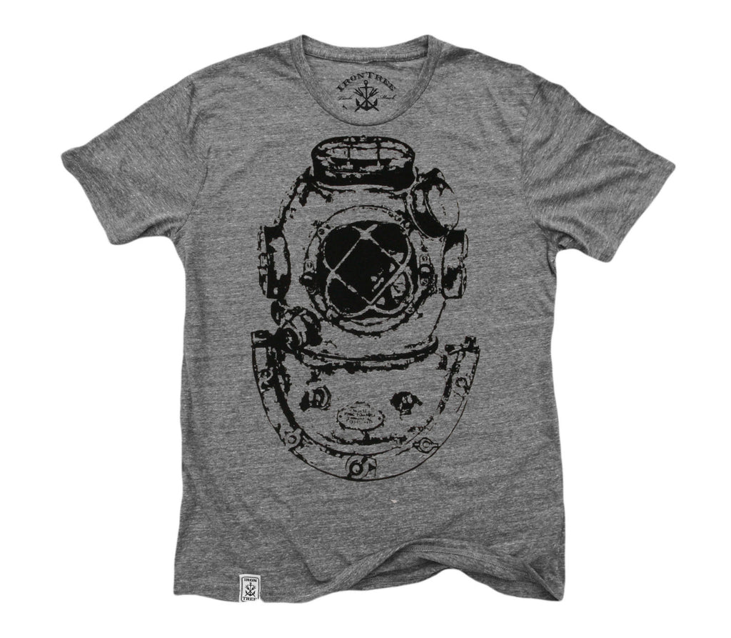 Mark V Antique Divers Helmut: Tri-Blend Short Sleeve T-Shirt in Tri Athletic Grey