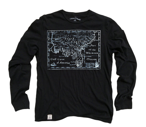 Treasure Map: Organic Fine Jersey Long Sleeve T-Shirt