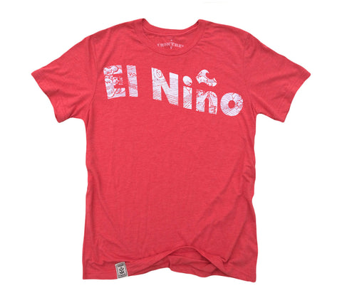 El Nino: Tri-Blend Short Sleeve T-Shirt in Tri Red