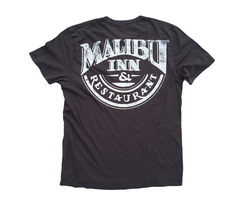 Malibu Inn: Organic Fine Cotton Short Sleeve T-Shirt in Brown