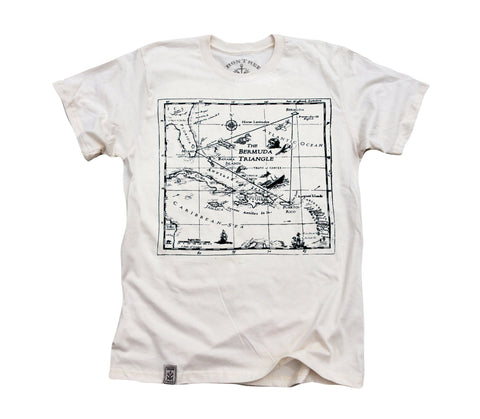 Bermuda Triangle: Organic Fine Jersey Short Sleeve T-Shirt in Unbleached Natural