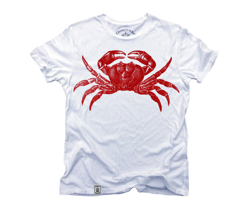 Red Crab: Organic Fine Jersey Short Sleeve T-Shirt