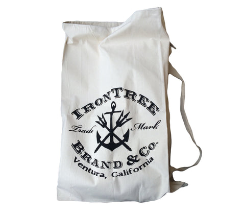 IronTree Seafarer's Diddy Bag: Large Heavy Canvas Drawstring Bag with Shoulder Strap