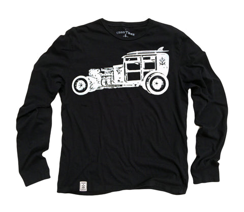 Rat Rod Woody: Organic Long Sleeve T-Shirt