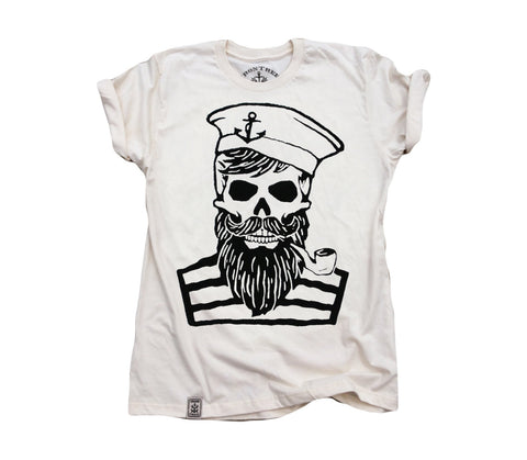 Blackbeard's Ghost: Organic Fine Jersey Short Sleeve T-Shirt in Unbleached Natural