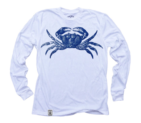 Maryland Blue Crab: Organic Fine Jersey Long Sleeve T-Shirt