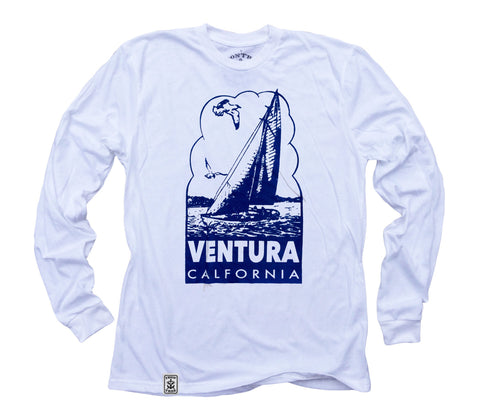 Ventura Sailboat: Organic Fine Jersey Long Sleeve T-Shirt