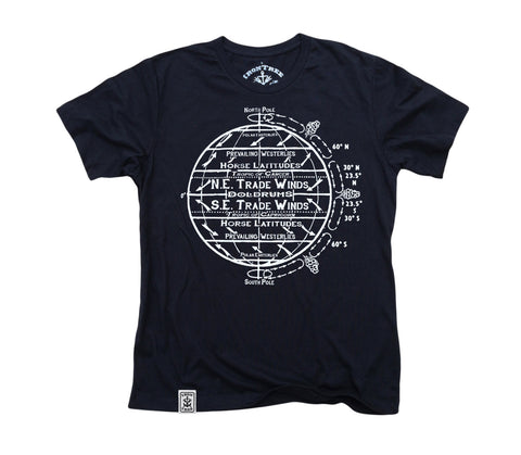 Horse Latitudes: Organic Fine Jersey Short Sleeve T-Shirt in Black