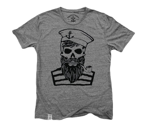 Blackbeard's Ghost: Tri-Blend Short Sleeve T-Shirt in Tri Athletic Grey