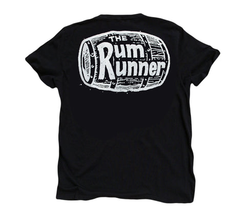 The Rum Runner ll: Organic Fine Jersey Short Sleeve T-Shirt in Black