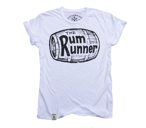 The Rum Runner: Organic Fine Jersey Short Sleeve T-Shirt in White