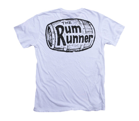 The Rum Runner ll: Organic Fine Jersey Short Sleeve T-Shirt in White