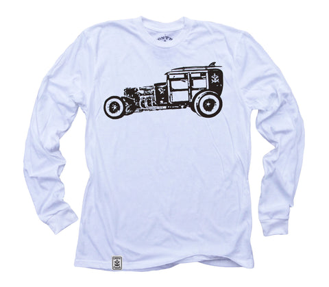 Rat Rod Woody: Organic Fine Jersey Long Sleeve T-Shirt