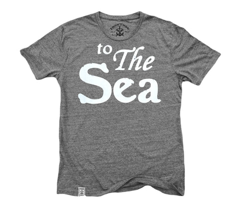 to The Sea: Tri-Blend Short Sleeve T-Shirt in Tri Vintage Grey