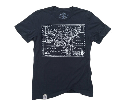 Treasure Map: Organic Fine Jersey Short Sleeve T-Shirt in Black