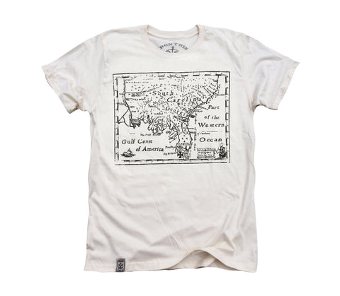 Treasure Map: Organic Fine Jersey Short Sleeve T-Shirt in Unbleached Natural