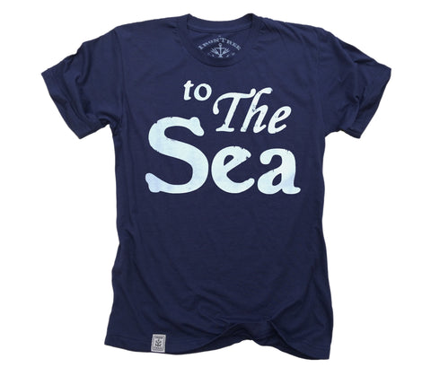 to The Sea: Fine Jersey Short Sleeve T-Shirt in Navy