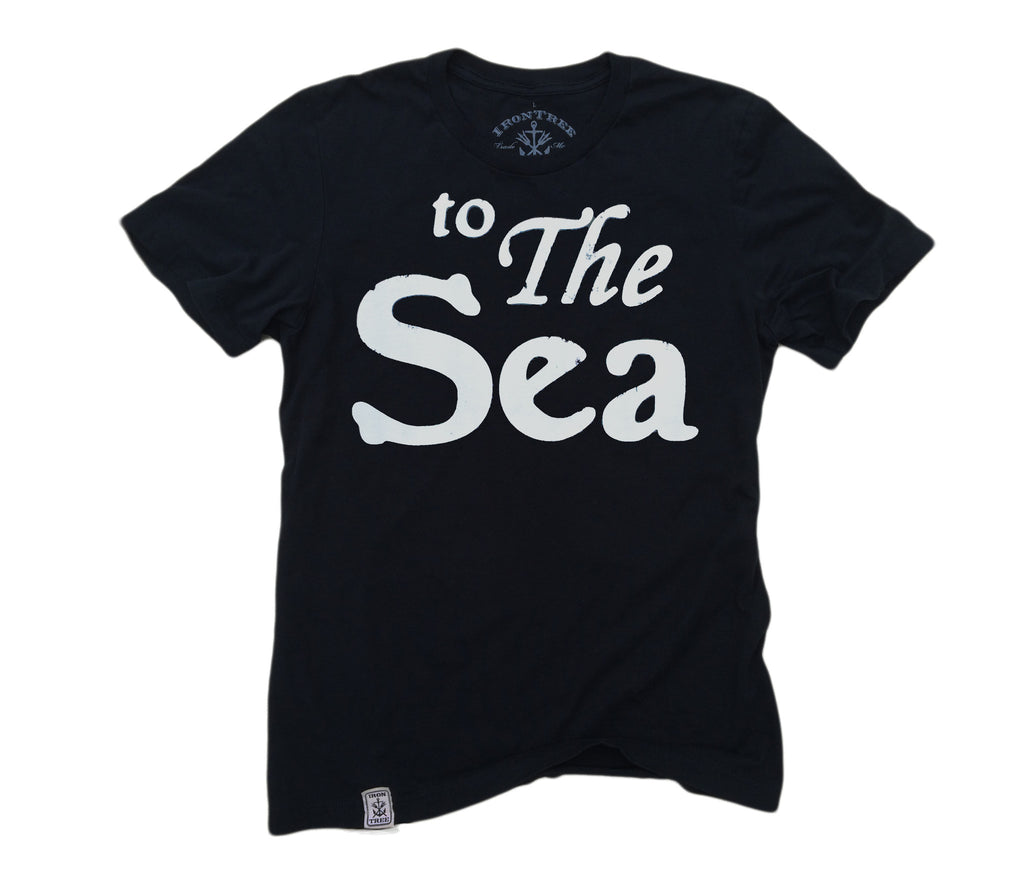 to The Sea: Organic Fine Jersey Short Sleeve T-Shirt in black