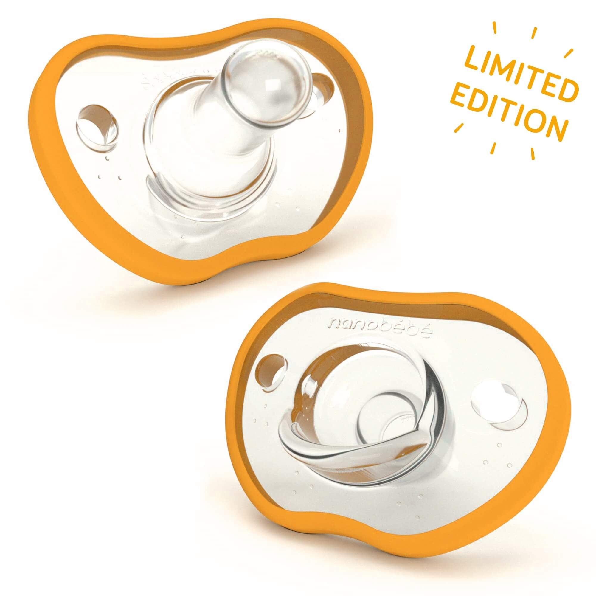 Nanobébé US 3m+ / Tangerine Limited-Edition Tangerine Flexy Pacifiers