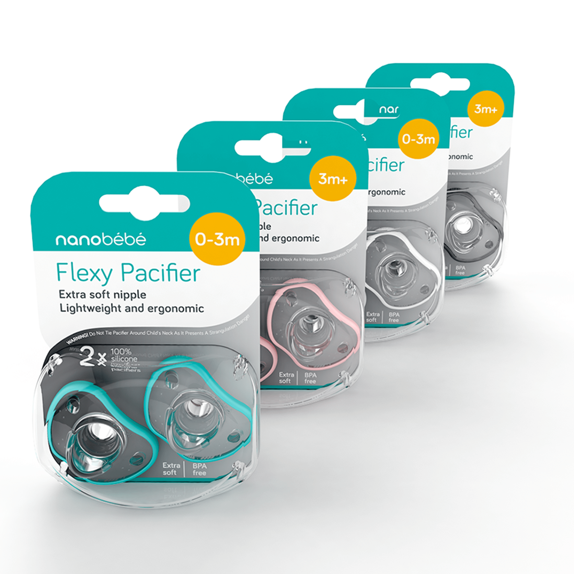 nanobébé Flexy Pacifier, 2-Pack