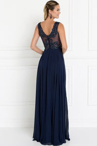 Beautiful V-neck Long Formal Dresses GSGL1566-Long Dresses-smcfashion.com