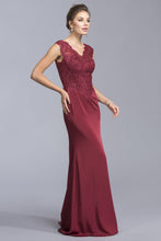 Load image into Gallery viewer, V-neck Cute Long Dresses APL1981-Prom Dresses-smcfashion.com