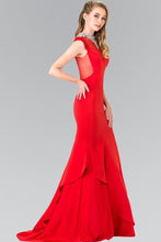 Load image into Gallery viewer, Elegant Long Gown Gowns With Illusion Neckline GSGL2242-Long Dresses-smcfashion.com